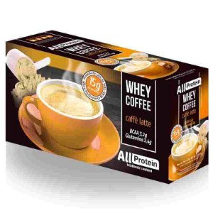 Whey Coffe - Café proteico caffè latte 15g de proteina de whey protein com BCAA e Glutamina - All Protein 25 unidades de 25g - 625g