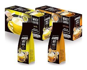 Pague 2 e Leve 4 - 1 caixa Café Vanilla + 1 caixa Caffè Latte + 2 Pacotes de Whey Coffee Grátis - All Protein