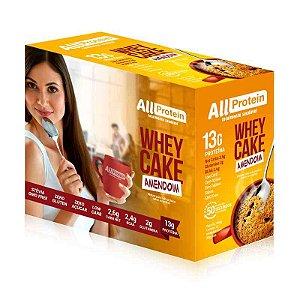 Whey CAKE de AMENDOIM com 13g de proteína All Protein - 12 Saches de 30g - 360g