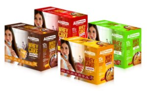 4 caixas de Cake proteico um de cada sabor - 48 saches de 30g - 1440g