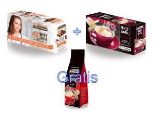 COMBO - 1 caixa de Whey Coffee MOCACCINO 625g + 1 Caixa de Whey Cookie de CACAU 320g - GRÁTIS Pacote whey coffee CAPPUCCINO 300g