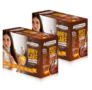 2 Caixas Whey Cake de Chocolate All Protein - 24 Saches de 30g - 720g