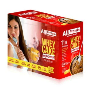1 Caixa Whey Cake de Maçã com Canela All Protein - 12 Saches de 30g - 360g