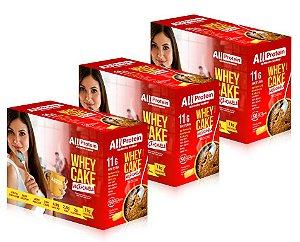 3 Caixas Whey Cake de Maçã com Canela All Protein - 36 Saches de 30g - 1080g