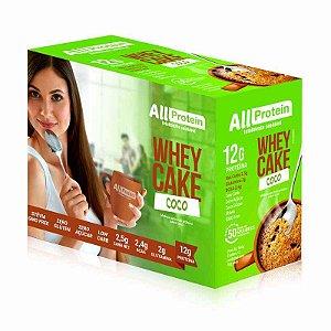 1 Caixa Whey CAKE de COCO com whey protein - All Protein - 12 Saches de 30g - 360g