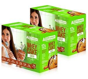 2 Caixas Whey Cake de Coco All Protein - 24 Saches de 30g - 720g