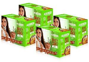 4 Caixas de Whey Cake de Coco All Protein - 48 Saches de 30g - 1440g