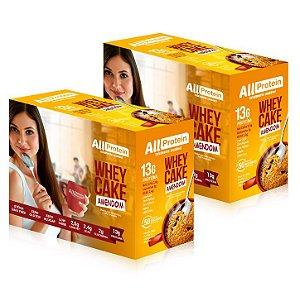 2 Caixas Whey Cake de Amendoim All Protein - 24 Saches de 30g - 720g