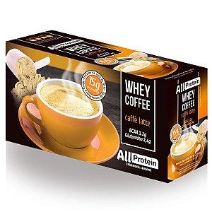 1 Caixa de Whey Coffee - Café proteico CAFÉ LATTE com whey protein - All Protein - 25 doses - 625g