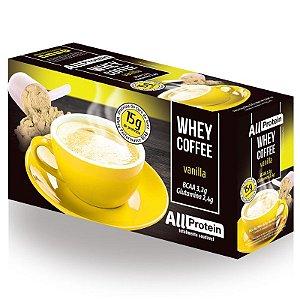 1 Caixa de Whey Coffee - Café proteico VANILLA com whey protein - All Protein - 25 doses - 625g