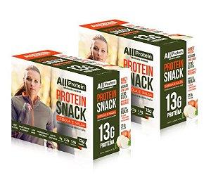 2 Caixas de Protein Snack Cebola e Salsa All Protein 14 unidades de 30g - 420g