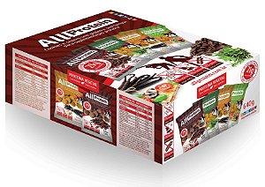 Cookies de Café - Display de 640g com 8 pacotes de 80g cada - sem glúten e sem lactose com proteina vegetal (proteina da ervilha e proteina do arroz) All Protein