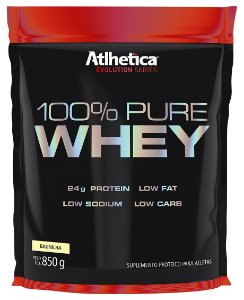 Sacola Pounche 100% Pure Whey 850G - Athletica Nutrition