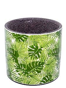 Cachepô Verde Folhas