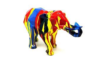 Escultura Decoração Elefante Color