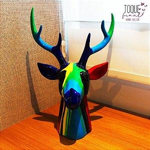 Escultura Decorativa Resina Alce Color