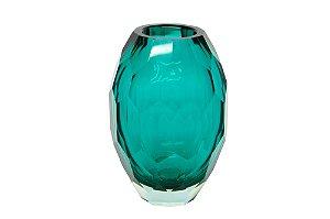 Vaso Decorativo Verde Geométrico Médio
