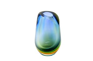 Vaso Decorativo Cristal Gota Tricolor Médio