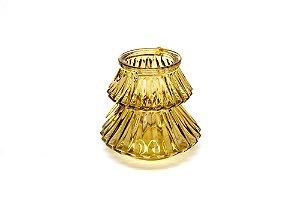 Porta Vela Decorativo com Alça Dourado