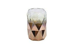 Vaso Decorativo Rosê Geométrico Pequeno