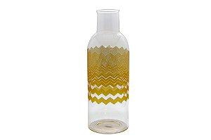 Vaso Decorativo Amarelo Étnico Médio