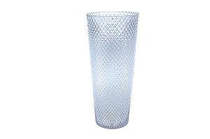 Vaso  Decorativo Transparente Bico de Jaca Grande