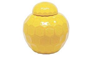 Pote Decorativo Amarelo Sol Pequeno