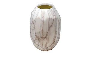 Vaso Decorativo Branco Mármore Grande