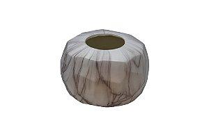 Vaso Decorativo Branco Mármore Pequeno