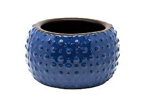 Cachepô Vaso Decorativo Azul Dots