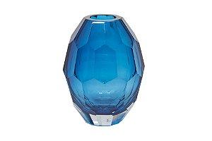 Vaso Decorativo Azul Diamante