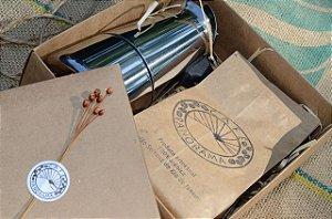Kit Presente: Cafeteira Italiana + 250 g de café