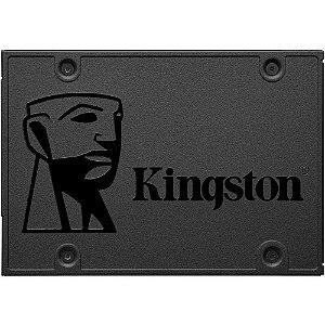 "SSD Kingston 2.5"" - 240GB A400 - 500MBs para leituras e 320MBs para gravações"