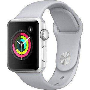 Apple Watch Series 3, 38 mm, Alumínio Prata, Pulseira Esportiva Névoa e Fecho Clássico - MQKU2LL/A