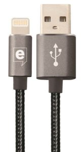 Cabo de Dados Premium Cable Lightning Grafite 2m Easy Mobile