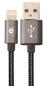 Cabo de Dados Premium Cable Lightning Grafite 1,2m Easy Mobile