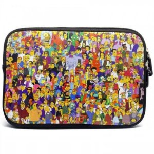 Case Sleeve Luva iPad Tablet Netbook 10.1 The Simpsons Familia Springfield - Iwill