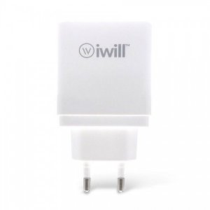 Adaptador de parede com 1 saída Turbo USB QC da iWill