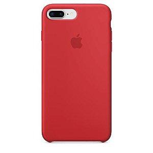 Capa de Silicone para iPhone 7 e iPhone 8 - Vermelha