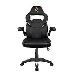 Cadeira Gamer Armor Preta com Branco - Gorila Gamer