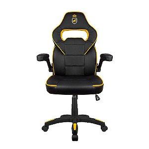 Cadeira Gamer Armor Preta com Amarelo - Gorila Gamer