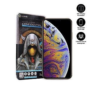 Película de Proteção da Tela X-One 180° Confidential Series Privacy Para iPhone 7 e 8 Frente Preta