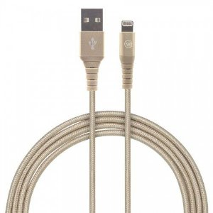Cabo Lightning Hard Nylon 120cm MFI Homologado Chip Apple - Iwill - Dourado