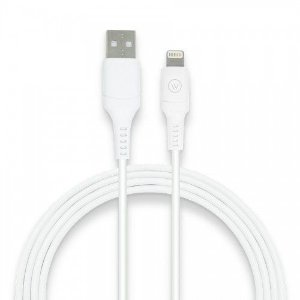 Cabo Lightning Hard TPE 120cm MFI Homologado Chip Apple - iWill - Branco