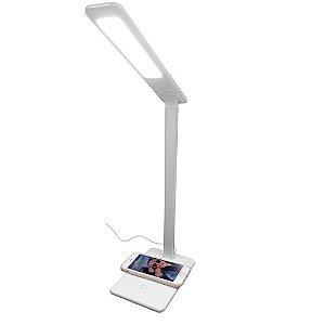 Lâmpada de Mesa Branca com Carregamento Wireless - iWill - Branca