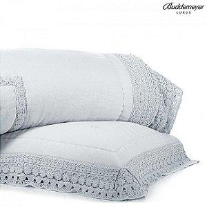 Colcha Queen Buddemeyer Luxus Prata Adeline
