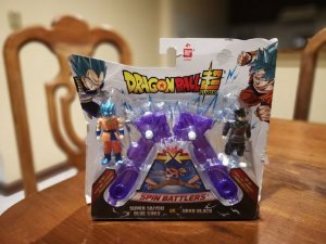 Figura de Animação - Dragon Ball Super - Spin Battlers - Super Goku Saiyan Blue vs Goku Black