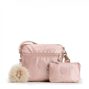Bolsa Kipling Foxwell Duo Metallic Blush