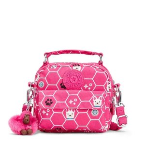 Bolsa de Mão Puck - Pink Dog Tile - Kipling