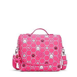 Lancheira Kichirou Flex - Pink Dog Tile - Kipling